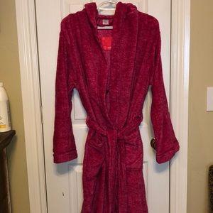 Ulta Beauty Hooded two pocket Pink Tie Short Robe